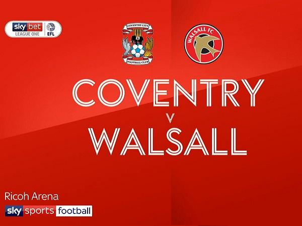 Nhận định Coventry vs Walsall, 1h45 ngày 4/09