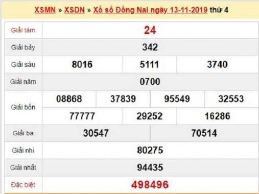 Dự đoán kqxs đồng nai ngày 20/11 chuẩn 100%