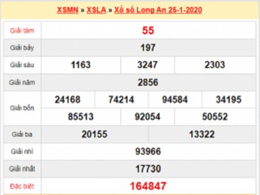 Dự đoán XSLA và thống kê Long An thứ 7 ngày 1/2/2020