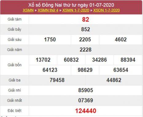 Dự đoán XSDNA 8/7/2020 chốt KQXS Đồng Nai thứ 4