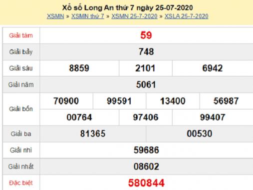 Dự đoán KQXSLA- xổ số long an thứ 7 ngày 01/08/2020