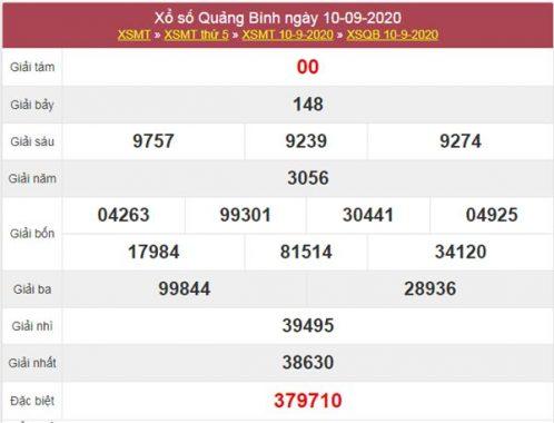 Dự đoán XSQB 17/9/2020 chốt KQXS Quảng Bình thứ 5
