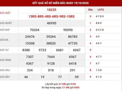 Dự đoán kết quả sổ xố Miền Bắc thứ 3 ngày 20-10-2020
