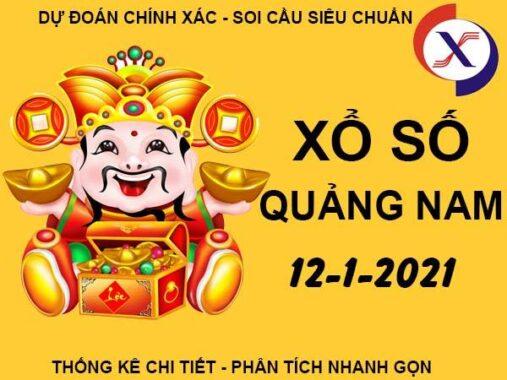 Dự đoán KQXS Quảng Nam thứ 3 ngày 12/1/2021