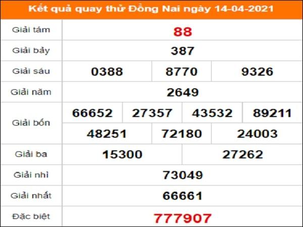 Tham khảo kết quả quay thử xổ số ngày 14/04/2021