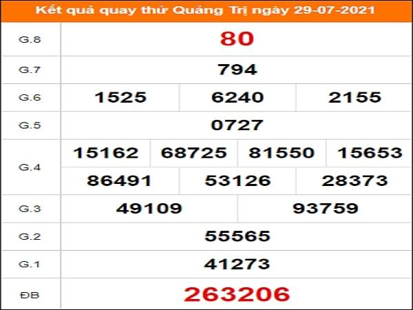 Quay thử Quảng Trị ngày 29/7/2021 thứ 5
